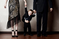 Hppy Child & Parents Royalty Free Stock Photos