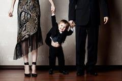 hppy dziecko rodzice Zdjęcia Royalty Free