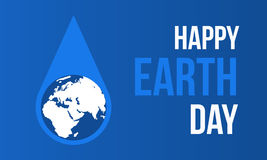 Hppy Earth Day with water style. Happy Earth Day with water style vector illustration Stock Photography