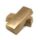 hq золота штанг 3d представляет ультра Стоковая Фотография RF