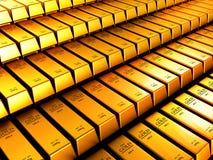 hq золота штанг 3d представляет ультра Стоковое фото RF