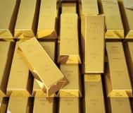hq золота штанг 3d представляет ультра Стоковая Фотография