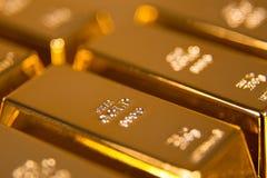 hq золота штанг 3d представляет ультра Стоковое Фото