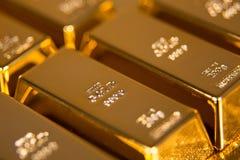 hq золота штанг 3d представляет ультра Стоковые Изображения RF