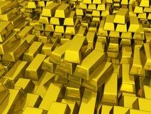 hq золота штанг 3d представляет ультра Стоковые Фотографии RF