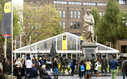 HQ Amsterdam Dance Event on Rembrandtsquare Royalty Free Stock Image