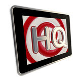 HQ high quality glossy icon as a pad screen Stock Image