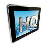 HQ high quality glossy icon as a pad screen Royalty Free Stock Images