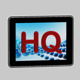 HQ high quality icon as a pad screen Stock Images