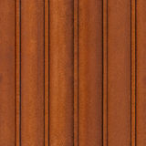 HQ seamless, tileable texture rusty iron sheet-piling Stock Photography