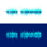 HQ Vector sound waves. Music waveform background. You can use in club, radio, pub, DJ show, party, concerts. Recitals or the audio technology advertising Stock Image