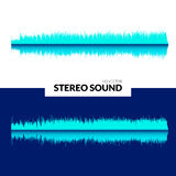 HQ Vector sound waves. Music waveform background. You can use in club, radio, pub, DJ show, party, concerts. Recitals or the audio technology advertising Stock Photography