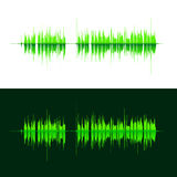 HQ Vector sound waves. Music waveform green background. You can use in club, radio, pub, DJ show, party, concerts. Recitals or the audio technology advertising Stock Photos