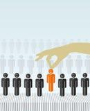 HR工作概念 免版税图库摄影