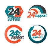 24hr σύνολο υποστήριξης 7 ημερών Στοκ φωτογραφία με δικαίωμα ελεύθερης χρήσης