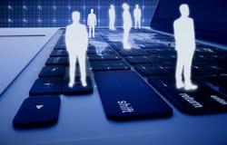 HR, глобальный бизнес и технологии иллюстрация штока