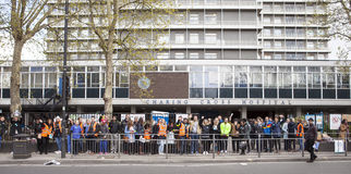 48 Hr All Out Strike for the Junior Doctors, 26th April, 2016. Royalty Free Stock Image