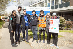 48 Hr All Out Strike for the Junior Doctors, 26th April, 2016. Stock Photos