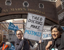 48 Hr All Out Strike for the Junior Doctors, 26th April, 2016. Royalty Free Stock Photo