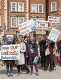 48 Hr All Out Strike for the Junior Doctors, 26th April, 2016. Royalty Free Stock Photography