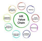 HR Analytic Value Chain. Components of HR Analytic Value Chain royalty free illustration