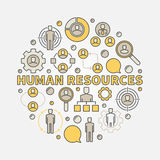 HR colorful illustration Royalty Free Stock Image