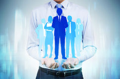 HR concept businesspeople silhouettes Royalty Free Stock Photo