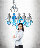 HR concept with confident businesswoman Stock Photo