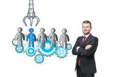 HR concept with isolated man Stock Photo