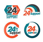 24hr 7day support set. Royalty Free Stock Photo