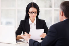 HR director and job candidate. Royalty Free Stock Photography