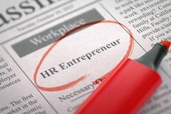 HR Entrepreneur Hiring Now. 3D. Royalty Free Stock Photos