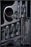 HR Giger sculpture in metal Stock Image