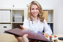 HR having job interviews Royalty Free Stock Image