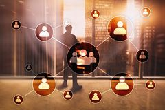 Free HR - Human Resources Management Concept On Blurred Business Center Background Stock Photos - 123407083
