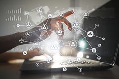 HR Human resources management. Recruitment, Hiring, Team Building. Organisation structure. HR Human resources management. Recruitment Hiring, Team Building vector illustration