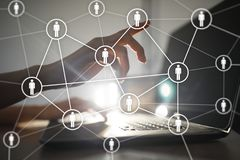 HR Human resources management. Recruitment, Hiring, Team Building. Organisation structure. HR Human resources management. Recruitment Hiring, Team Building stock illustration