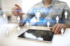 HR Human resources management. Recruitment, Hiring, Team Building. Organisation structure. HR Human resources management. Recruitment Hiring, Team Building stock photography