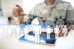 HR Human resources management. Recruitment, Hiring, Team Building. Organisation structure. HR Human resources management. Recruitment Hiring, Team Building royalty free stock photo