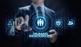 HR Human resources management recruitment talent concept. royalty free stock image