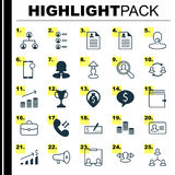 Hr Icons Set. Collection Of Destination, Find Employee, Messaging And Other Elements. Also Includes Symbols Such As Job Royalty Free Stock Photography