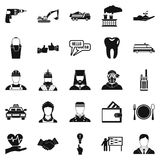 HR icons set, simple style. HR icons set. Simple set of 25 hr vector icons for web isolated on white background Stock Photo