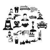 HR icons set, simple style. HR icons set. Simple set of 25 hr vector icons for web isolated on white background Royalty Free Stock Photo