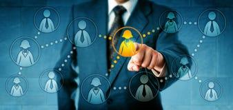 HR kierownik Headhunting W Ogólnospołecznej sieci Zdjęcie Stock