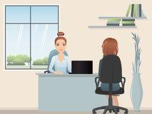 HR kierownik zatrudnia profesjonalisty dla pozyci Obraz Royalty Free