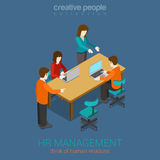 HR management creative flat 3d web isometric infographic concept Royalty Free Stock Photo