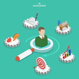 HR management flat isometric vector concept. Royalty Free Stock Photography