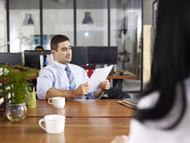 HR manager conducting an interview Royalty Free Stock Photography