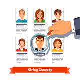 HR manager looking on candidates. Hiring concept Royalty Free Stock Photography