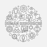 HR outline illustration Stock Photos